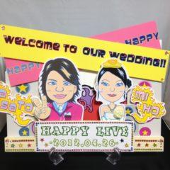 ウェルカムボード 似顔絵 結婚式