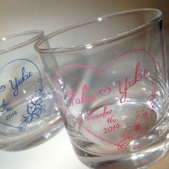 オリジナルペアグラス(結婚祝い)